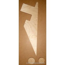 Pickguard + Jack Template, vintage 58 shape