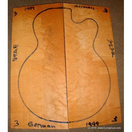 ARCHTOP GERMAN spruce, BEAR MASTER grade, 1999