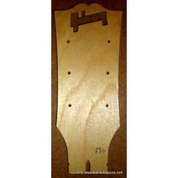 LP headstock routing template, 1959 vintage shape